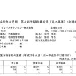 2017/02/07 決算の感想 グレイステクノロジー(6541) 3Q