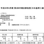 2017/02/09 決算の感想 バリューデザイン(3960) 2Q
