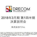 2017/07/27 決算の感想 ドリコム (3793) 1Q