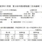 2017/07/09 決算の感想 シリコンスタジオ (3907) 2Q