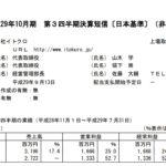 2017/09/11 決算の感想 イトクロ (6049) 3Q